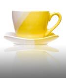 желтый цвет кофейной чашки Стоковая Фотография
