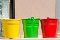желтый цвет красного цвета 3 зеленого цвета цветов пряжек стоковые фото