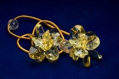 желтый цвет кристалла Стоковая Фотография