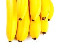 желтый цвет крупного плана бананов стоковое фото rf
