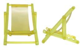 желтый цвет лагеря кровати складной Стоковые Фото