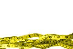 желтый цвет ленты измерения Стоковое Изображение