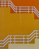 желтый цвет лестниц Стоковая Фотография
