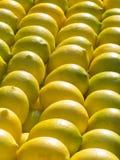 желтый цвет лимонов стенда Стоковая Фотография