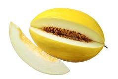 желтый цвет ломтика дыни сладостный Стоковое Изображение RF