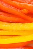 желтый цвет ломтика перца колокола красный Стоковая Фотография RF
