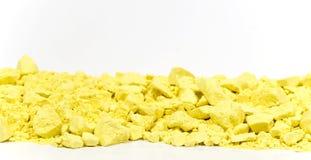 желтый цвет мелка граници горизонтальный Стоковое фото RF
