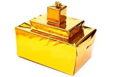 желтый цвет настоящих моментов коробок Стоковая Фотография RF