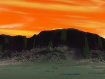 желтый цвет неба Стоковая Фотография
