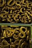 желтый цвет номера печатая на машинке Стоковая Фотография RF