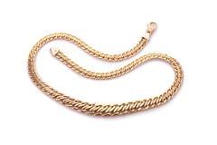 желтый цвет ожерелья золота Стоковое Изображение
