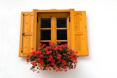 желтый цвет окна Стоковое фото RF