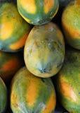желтый цвет папапайи плодоовощ Стоковое Изображение