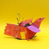 желтый цвет пасхального яйца предпосылки Стоковое Фото