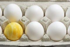 желтый цвет пасхального яйца Стоковая Фотография