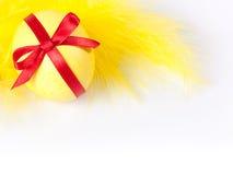 желтый цвет пера пасхального яйца Стоковые Фото