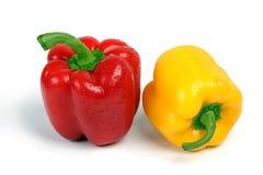 желтый цвет перца красный сладостный Стоковые Изображения RF