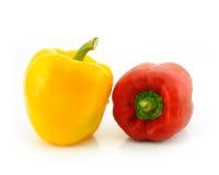 желтый цвет перца красный сладостный Стоковые Фото
