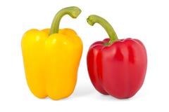 желтый цвет перца красный Стоковые Изображения RF