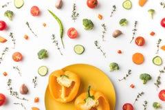 желтый цвет перца отрезока колокола Стоковое Изображение