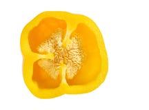 желтый цвет перца путя клиппирования Стоковые Изображения RF