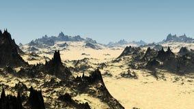 желтый цвет песка ландшафта пустыни Стоковое Изображение