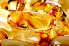 желтый цвет пилек геля стоковое фото