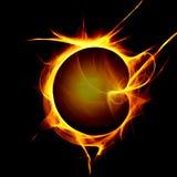 желтый цвет пламени Стоковое Фото