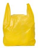 желтый цвет пластмассы мешка Стоковые Фото