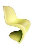 желтый цвет пластмассы стула Стоковое Фото