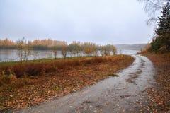 желтый цвет погоды валов солнца дороги осени зеленый Стоковые Изображения RF