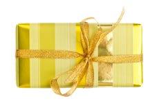 желтый цвет подарка коробки Стоковое Фото