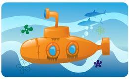 желтый цвет подводной лодки Стоковые Фото