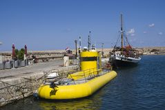 желтый цвет подводной лодки Стоковое Изображение RF
