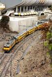 желтый цвет поезда Стоковая Фотография RF