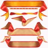 желтый цвет полосы бежевый красный Стоковая Фотография