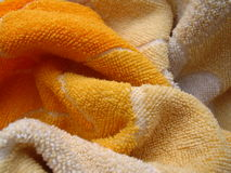 желтый цвет полотенца Стоковая Фотография