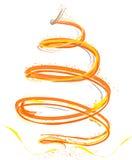 желтый цвет померанцового вала рождества иллюстрация штока