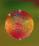 желтый цвет померанцового красного цвета зеленого цвета диско шарика Стоковое Фото