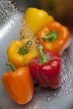 желтый цвет померанцового перца колокола красный Стоковое Фото