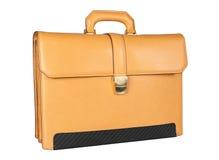желтый цвет портфеля Стоковая Фотография
