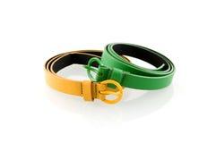желтый цвет пояса зеленый Стоковое Изображение