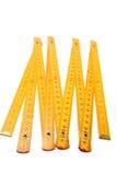 желтый цвет правителя складчатости Стоковое Изображение RF