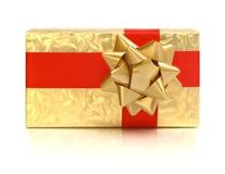 желтый цвет праздника коробки смычка Стоковые Изображения RF