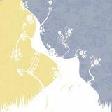 желтый цвет предпосылки голубой белый Стоковые Изображения