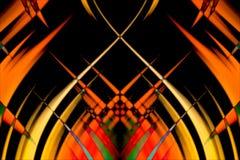 желтый цвет предпосылки черный Стоковая Фотография