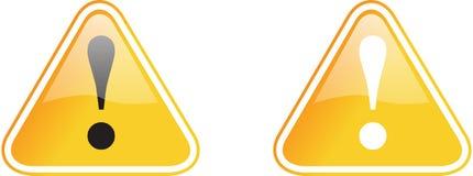желтый цвет предупреждения знака Стоковые Фотографии RF