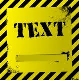 желтый цвет предупреждения квада Стоковая Фотография