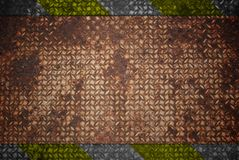 желтый цвет предупреждения текстуры черного знака стальной Стоковые Фотографии RF
