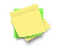 желтый цвет примечаний Стоковые Изображения
